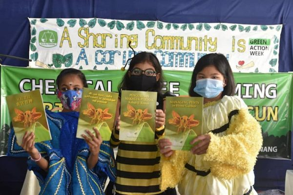 CAP - students from SK COnvent Greenlane dressed in insect costumes