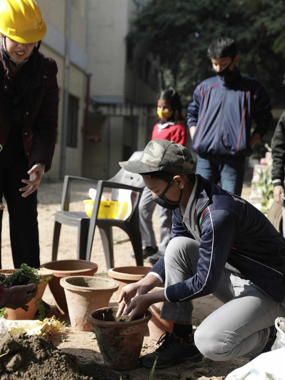 Consumer Voice - winter school air purifying plants - Soami Nagar Model School - 5 - medium res